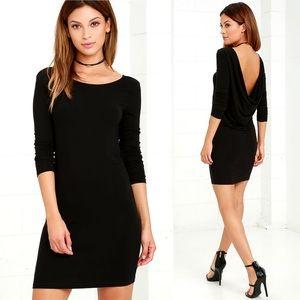 Lulu's Right Back Atcha' Black Long Sleeve Dress